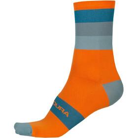 Endura Bandwidth Stripe Socks Men pumpkin